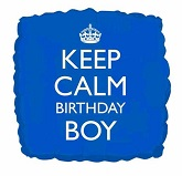 18&#39&#39 Keep Calm Birthday Boy Balloon