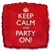 18&#39&#39 Keep Calm and Party on Red