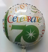 "18"" Celebrate in Style 70th Birthday Foil Balloon"
