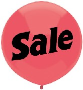"17"" Outdoor Display Balloons (50 Count) Sale"