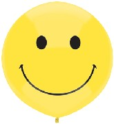 "17"" Outdoor Display Balloons (50 Count) Smile Yellow Face"
