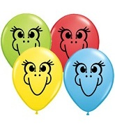 "5"" Bird Face Balloon (100 Count)"