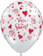"11"" Clear Diamond You&#39re So Sweet (25 per bag)"