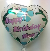 "18"" Happy Birthday Mom Vines Heart Shape"