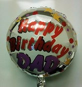 "18"" Happy Birthday Dad Confetti Balloon"