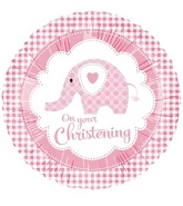 18&#39&#39 On Your Christening Pink Elephant