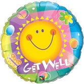 "36"" Get Well Radiant Sun Balloon"