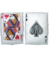 "30"" Card Queen Of Hearts/Ace Of Spades"