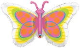 "39"" Radiant Butterfly Balloon Neon"
