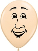 "5"" Round Latex Man&#39s Face Balloon (100 Count)"