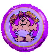 "4"" Airfill Girl Bear W/Diaper Balloon"