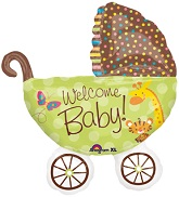 "31"" Fisher-Price Baby Buggy Balloon"