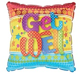 "18"" Colorful Get Well Soon Balloon"