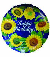 "18"" Happy Birthday Sunflower Wreath"