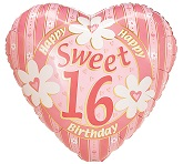"18"" Sweet 16 Pink Balloon"