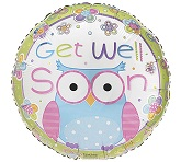 "18"" Hootie Cutie Get Well Mylar Balloon"