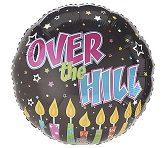 "18"" Over The Hill Candles Mylar Balloon"