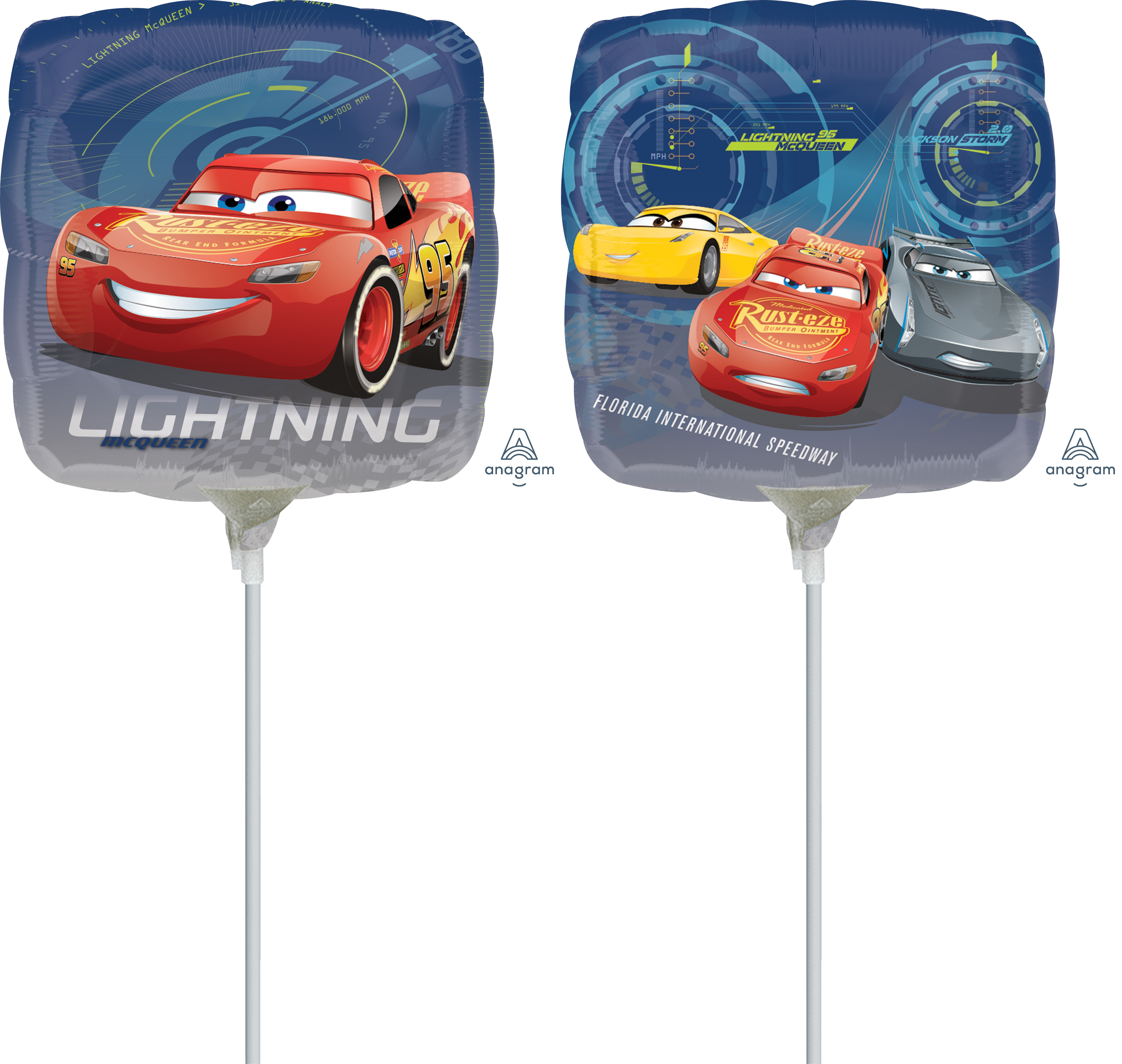 "9"" Airfill Only Cars 3 Balloon"