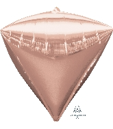 "17"" Jumbo Diamondz Rose Gold Balloon"