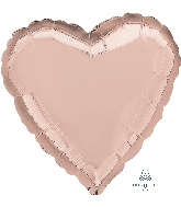 "18"" Rose Gold Decorator Balloon Heart"