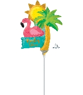Airfill Only Party Time Sun/PalmTree/Flamingo Balloon
