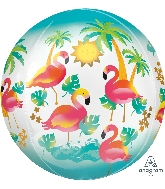 "16"" Orbz Let&#39s Flamingle Floating Flamingo Balloon"