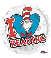 "18"" Dr. Seuss Hats Off to Reading Balloon"