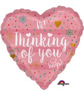 "18"" Thinking of You Coral Balloon"