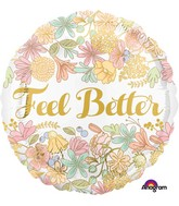 "18"" Golden Floral Feel Better Balloon"