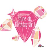 "30"" Jumbo Shine On Birthday Girl Balloon"