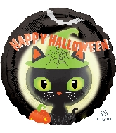 "18"" Halloween Black Kitty Balloon"