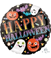 "18"" Pumpkins, Ghosts & Bats Balloon"