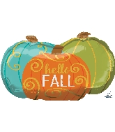 "29"" Jumbo Hello Fall Pumpkins Balloon"