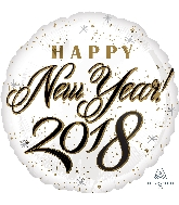 "18"" Happy New Years 2018 Balloon"