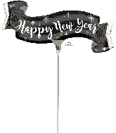 Airfill Only Happy New Years Banner Balloon
