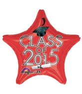 "18"" Class of 2015 Graduation Balloon Red"