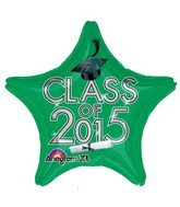 "18"" Class of 2015 Graduation Balloon Green"