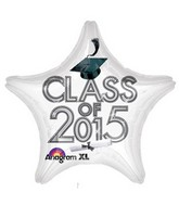 "18"" Class of 2015 Graduation Balloon White"