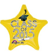 "18"" Class of 2015 Graduation Balloon Yellow"