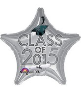 "18"" Class of 2015 Graduation Balloon Silver"