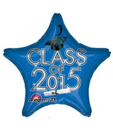"18"" Class of 2015 Graduation Balloon Blue"