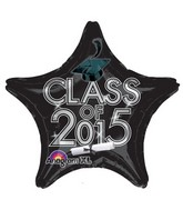 "18"" Class of 2015 Graduation Balloon Black"