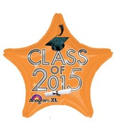 "18"" Class of 2015 Graduation Balloon Orange"