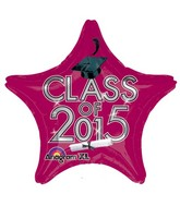 "18"" Class of 2015 Graduation Balloon Burgundy"