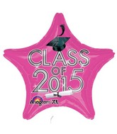 "18"" Class of 2015 Graduation Balloon Pink"