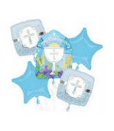 Bouquet Communion Blessings Blue Balloon Packaged