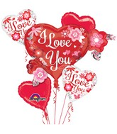 Bouquet of Balloons I Love You Flowers Balloon