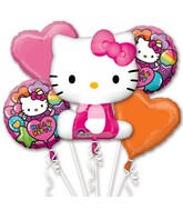 Hello Kitty Rainbow Bouquet of Balloons