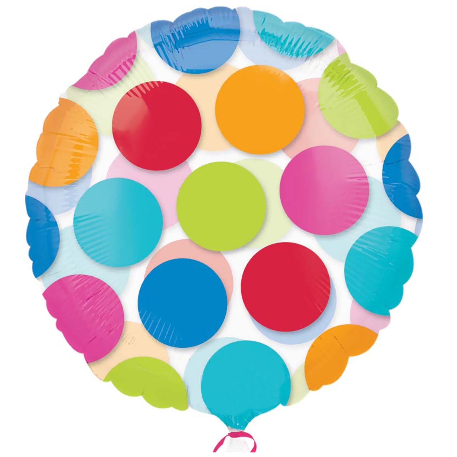 Anagram 17271 Round Dots Lime Foil Balloon 18,