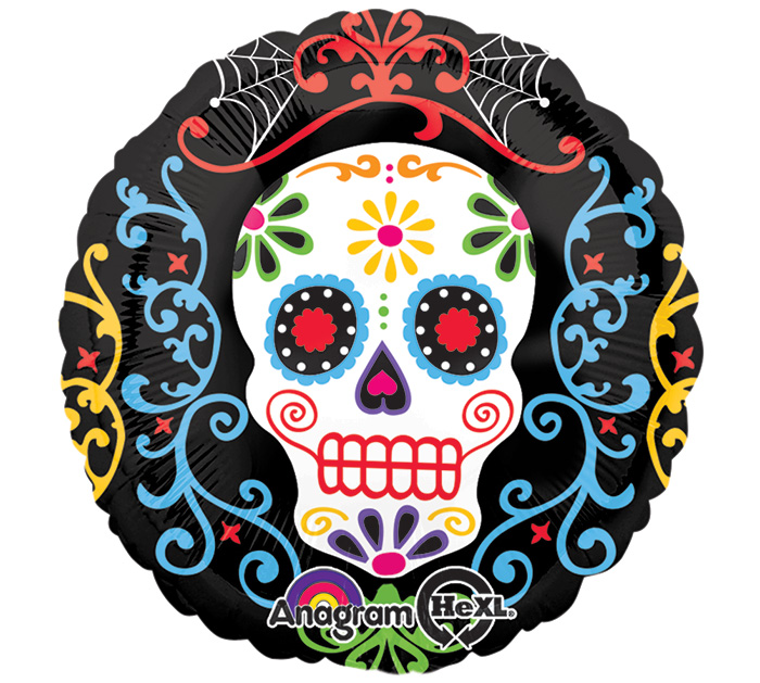 "18"" Day of the Dead Pattern Balloon"